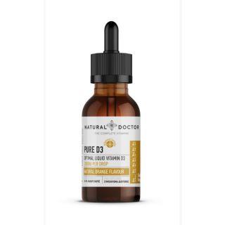 Natural Doctor Pure D3 Optimal Liquid Vitamin D3 2000IU per Drop 30ml με Φυσικό Άρωμα Πορτοκαλιού