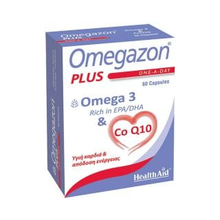 Health Aid Omegazon Plus 60 Caps Συνδυασμός από Ιχθυέλαια