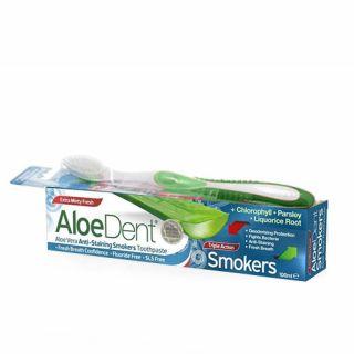 Optima AloeDent Triple Action Smokers 100ml