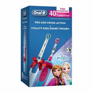 Oral-B Pro 600 Crossaction + Vitality Kids Frozen