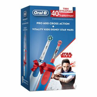 Oral-B Pro 600 Crossaction + Vitality Kids Star Wars