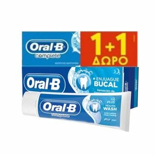 Oral-B Complete Mouthwash & Whitening 2 x 75ml