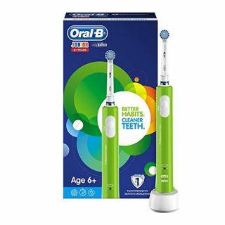 Oral-B JUNIOR HBOX 6+ Years Green Ηλεκτρική Οδοντόβουρτσα