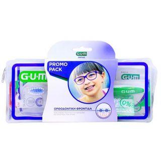 Gum Ortho Care Kit σετ Ορθοδοντικής Φροντίδας με Οδοντόβουρτσα, Προτεμαχισμένο Κερί Ortho, AftaClear Gel 2ml, Νήμα Ortho 5τεμ