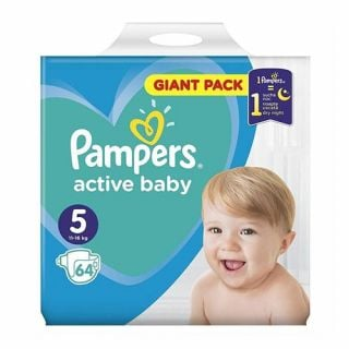 Pampers Active Baby Giant Pack No5 (11 - 16kg) 64