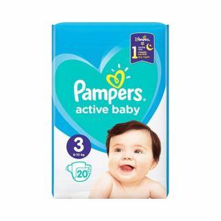 Pampers Active Baby No3 (6 - 10kg) 20