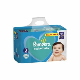 Pampers Active Baby Giant Pack No3 (6 - 10kg) 90