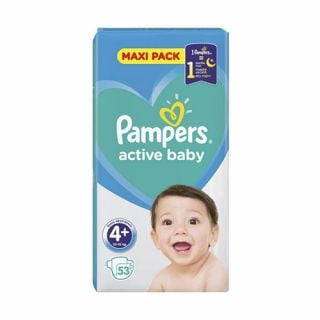 Pampers Active Baby Maxi Pack No4 (10 - 15kg) 53