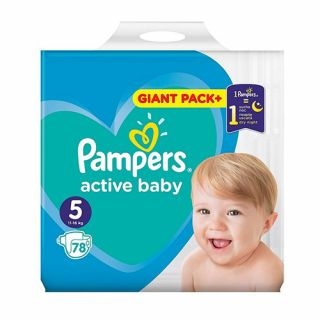 Pampers Active Baby Giant Pack No5 (11 - 16kg) 78