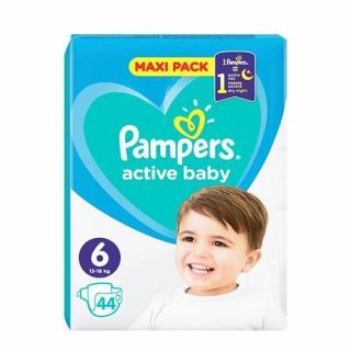 Pampers Active Baby Maxi Pack No6 (13 - 18kg) 44