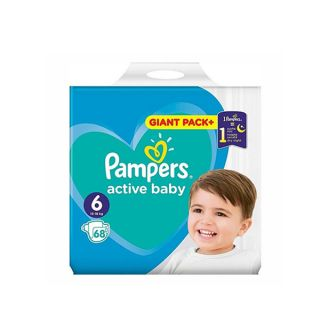 Pampers Active Baby Giant Pack No6 (13 - 18kg) 68