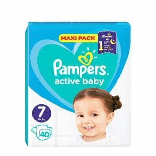 Pampers Active Baby Maxi Pack No7 (15+ kg) 40