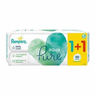 Pampers Aqua Pure Wipes 2 x 48