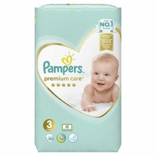 Pampers Premium Care New Baby Midi No3 (6 - 10kg) 60