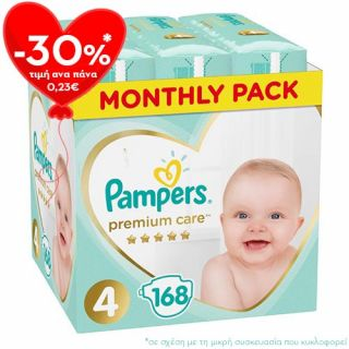 Pampers Premium Care Maxi No4 (9 - 14kg) 168