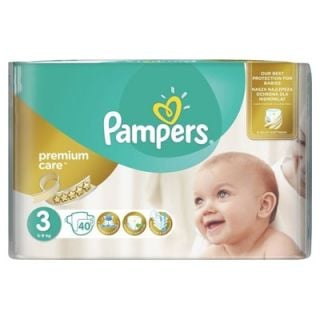 Pampers Premium Care Midi No3 (5 - 9kg) 40