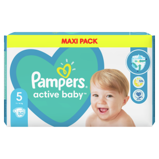 Pampers Active Baby Maxi Pack No5 (11-16 Kg) 50 Items