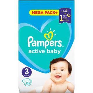 Pampers Active Baby Mega Pack No3 (6 - 10kg) 152 Τεμάχια