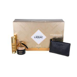 Lierac Premium La Cure Absolute Anti-Aging 30ml Μεταξένια Κρέμα Απόλυτης Αντιγήρανσης + Creme Voluptueuse 15ml Κρέμα Αντιγήρανσης + Rue Des Fleurs-Monaco Pouch