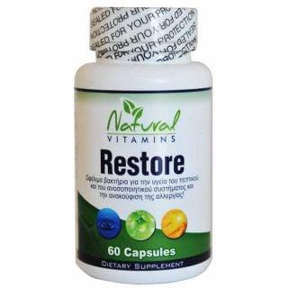 Natural Vitamins Restore 60 Caps Σύμπλεγμα Προβιοτικών