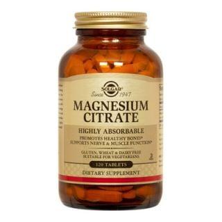 Solgar Citrate Magnesium 200mg 120 Tabs