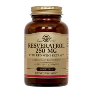 Solgar Resveratrol 250mg 30 Softgels