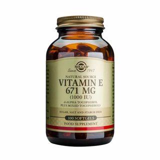 Solgar Vitamin E 1000IU 100 Softgels