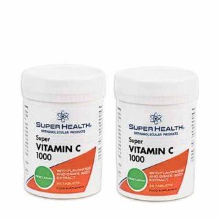 Super Health Vitamin C 2 x 30 Tabs