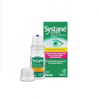 Alcon Systane Ultra Λιπαντικές Οφθαλμικές Σταγόνες χωρίς Συντηρητικά 10ml