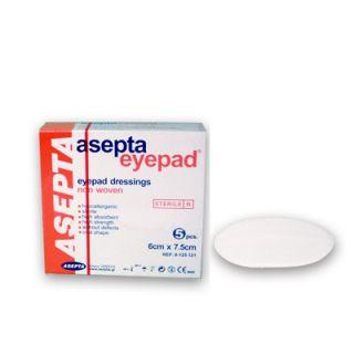 Asepta Eye Pad Οφθαλμικά Αποστειρωμένα Επιθέματα 6cm x 7.5cm 5 Τεμάχια