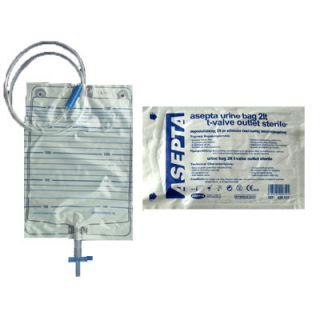 Asepta Urine Bag Ουροσυλλέκτης με Κάνουλα Εκκένωσης Αποστειρωμένος 1 Τεμάχιο