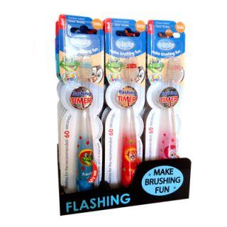 B-Brite Flashing Timer Soft Toothbrush Kids 1 Item