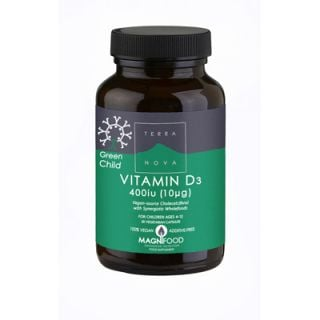 Terranova Green Child Vitamin D3 400 iu 50 Caps Βιταμίνη D3 για Παιδιά