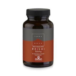 Terranova Reishi Mycelia 500mg 50 Caps Elixir of Life and Energy