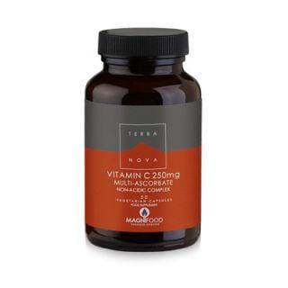 Terranova Vitamin C 250mg Complex 50 Caps Βιταμίνη C με Υπερτροφές