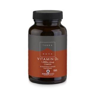 Terranova Vitamin D3 Complex 1000iu (25ug) 50 Caps with Superfoods