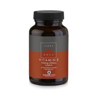 Terranova Vitamin E Complex 200iu (134mg) 50 Caps with Superfoods
