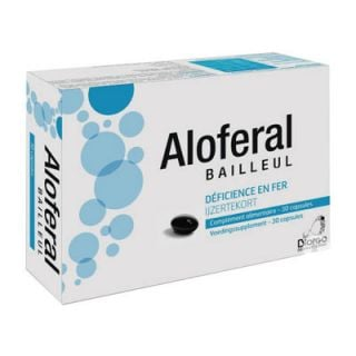 Biorga Aloferal Bailleul 30 Caps Iron Food Supplement