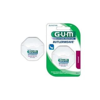 Gum Weave Dental Floss Unwaxed Οδοντικό Νήμα Ακήρωτο