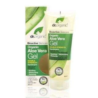 Dr. Organic Aloe Vera Gel Double Strength 200ml Ενυδατικό Ζελ Σώματος με Αλόη Βέρα