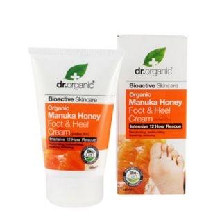 Dr. Organic Manuka Honey Foot and Heel Cream 125ml Κρέμα Ποδιών και Πελμάτων με Μέλι Μανούκα