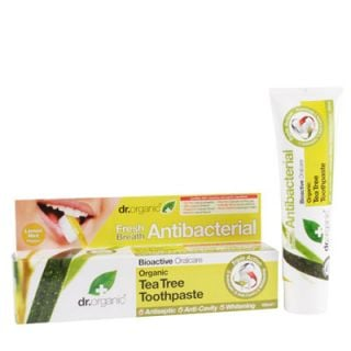 Dr. Organic Tea Tree Toothpaste (Antibacterial) 100ml Αντιβακτηριδιακή Οδοντόκρεμα με Τεϊόδεντρο