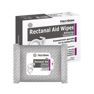 Frezyderm Renactal Aid Wipes 20 Cleansing Wipes for Hemorrhoids