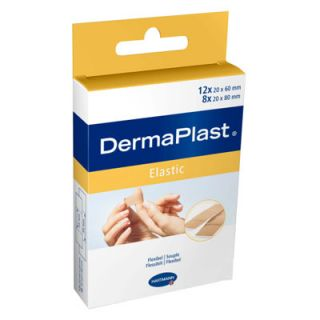 Hartmann Dermaplast Elastic Strips 5352253 Adhesive Pads Microtrauma 2 Sizes 20 Items