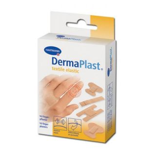 Hartmann Dermaplast Elastic Finger Strips Adhesive Pads 4 Sizes 16 Items