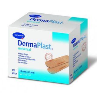 Hartmann Dermaplast Universal 19x72mm Adhesive Wound Pads 100 Items