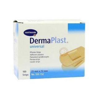 Hartmann Dermaplast Universal 25x72mm Adhesive Wound Pads 100 Items