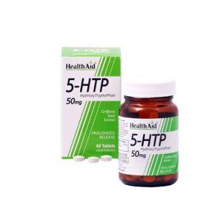 Health Aid 5-HTP Tryptophan 50mg 60 VegTabs