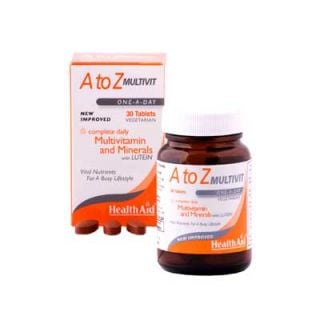 Health Aid A to Z Multivit - Lutein 30 Tabs