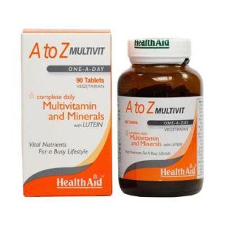 Health Aid A to Z Multivit - Lutein 90 Tabs Πολυβιταμίνη